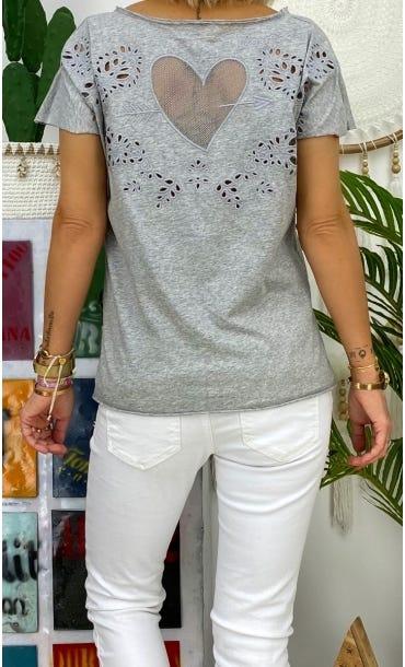 T-Shirt Anton Gris Clair Cupidon