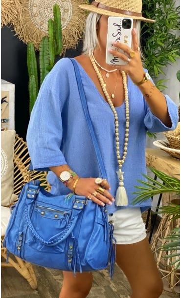 Sac Ancone Bleu Jean