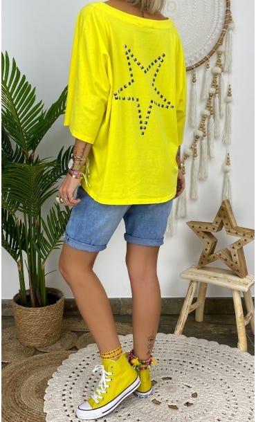 T-Shirt Alex Jaune Star