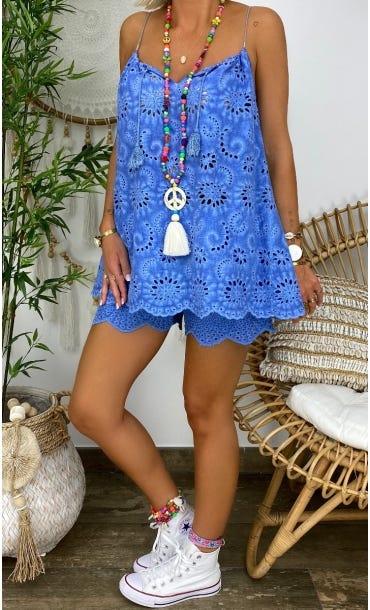 Tunique Tammy Broderie Bleu Jean
