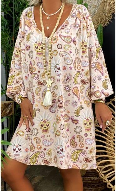 Petite Robe Nina Rose Nude Fiesta