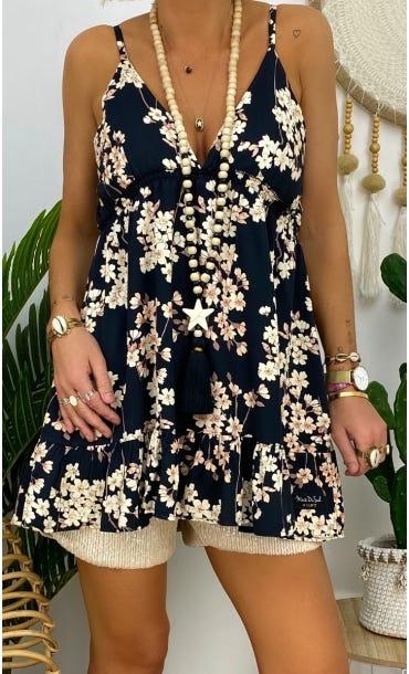 Tunique Aure Noir Flores