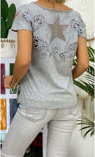 T-Shirt Anton Gris Clair Star