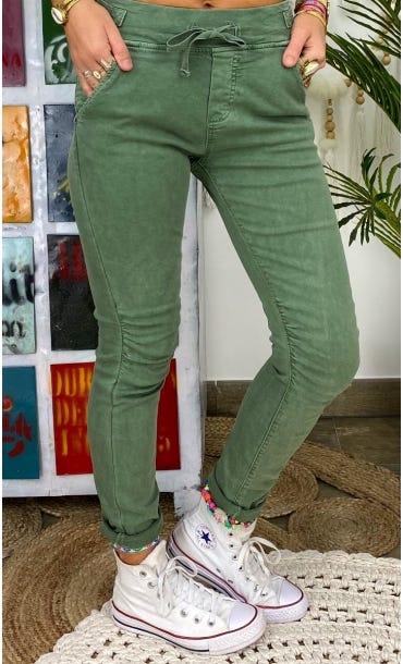 Pantalon Slim Terence Kaki