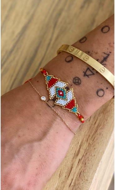 Bracelet Maiana Rouge