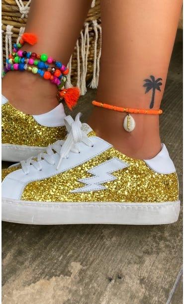 Bracelet De Cheville Apsara Orange