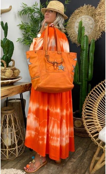 Sac Gynett Orange Star Argent