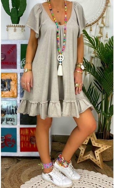 Petite Robe Tess Taupe