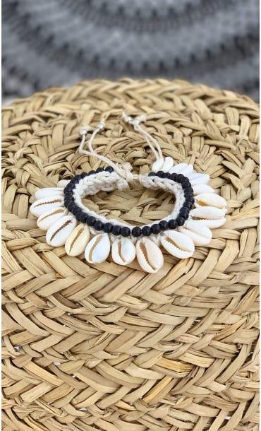 Bracelet De Cheville Kaili Noir