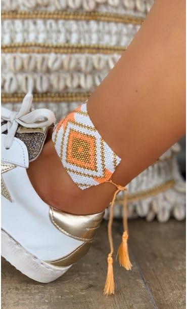 Bracelet Manchette Aztek Orange Fluo