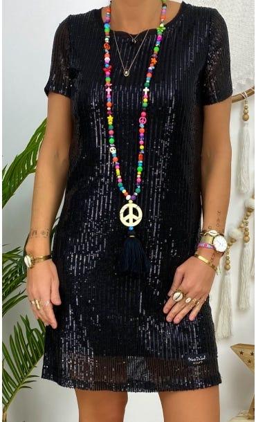 Petite Robe Nora Sequins Noir