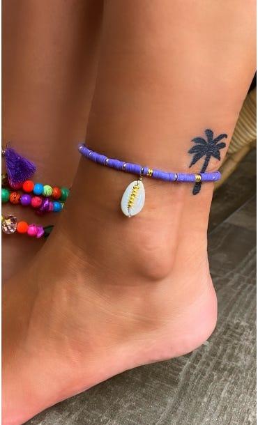 Bracelet De Cheville Apsara Violet