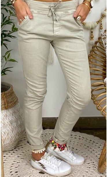 Pantalon Slim Terence Beige