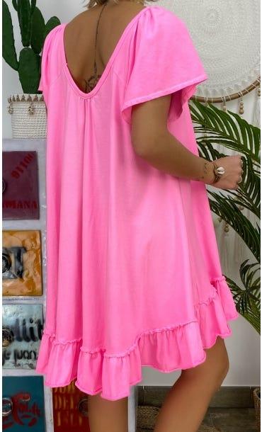 Petite Robe Tess Rose Fluo