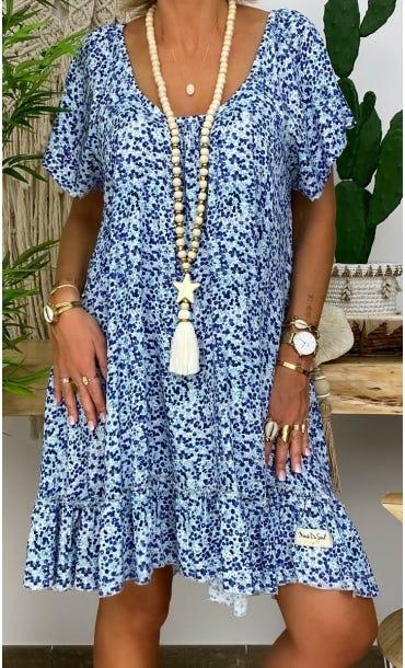 Petite Robe Tess Blueberry