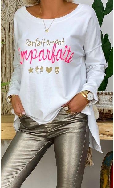 Sweat Matisse Blanc Parfaitement Imparfaite