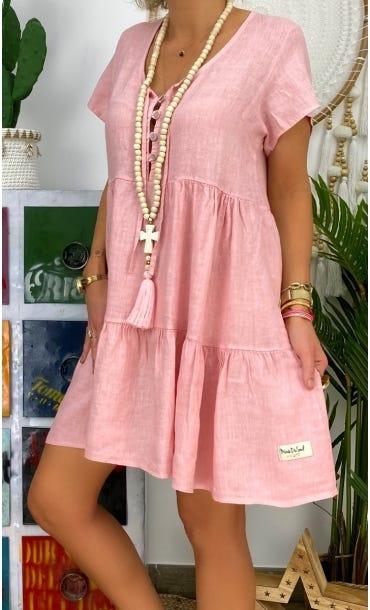 Petite Robe Kara Lin Rose Clair