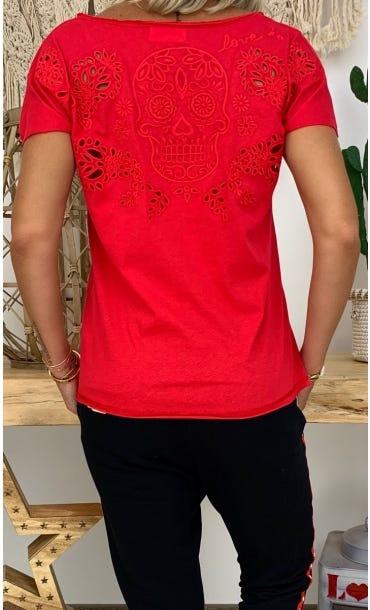 T-Shirt Anton Rouge Skull
