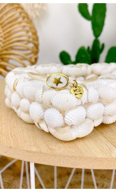 Bracelet Kassem Ecru Charm Blanc