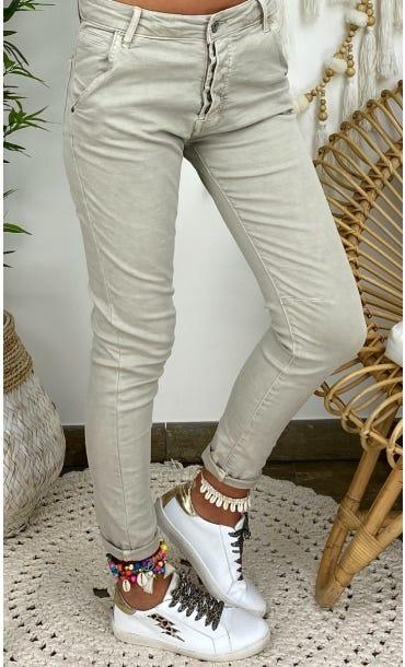 Pantalon Slim Julien Beige
