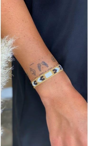 Bracelet Siam Blanc Or