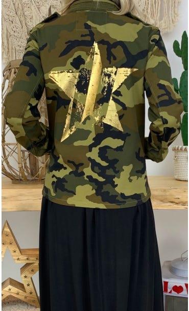 Veste Thais Kaki Camouflage Star Or