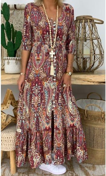 Robe Lola Bordeaux Keema