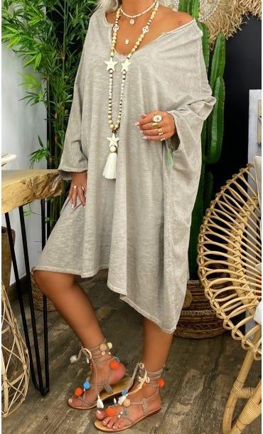 Petite Robe Sasha Oversize Taupe