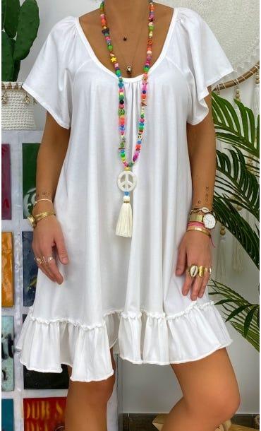Petite Robe Tess Blanc