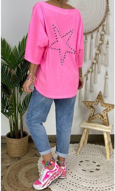 T-Shirt Alex Rose Fluo Star