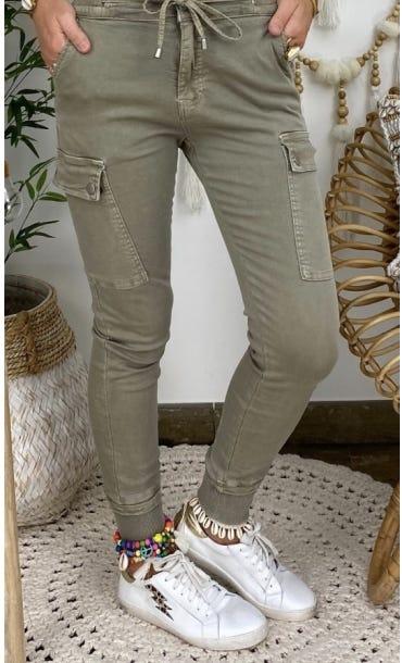 Pantalon Slim Cargo Zak Taupe