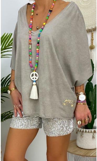 T-shirt Ultra-light Farah Taupe