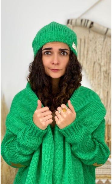 Ensemble Echarpe & Bonnet Vert