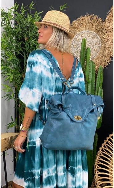 Sac Cartable Rimini Bleu Vert