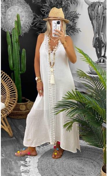 Robe Shannah Blanc