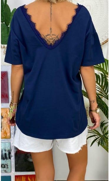 T-Shirt Romane Bleu Marine