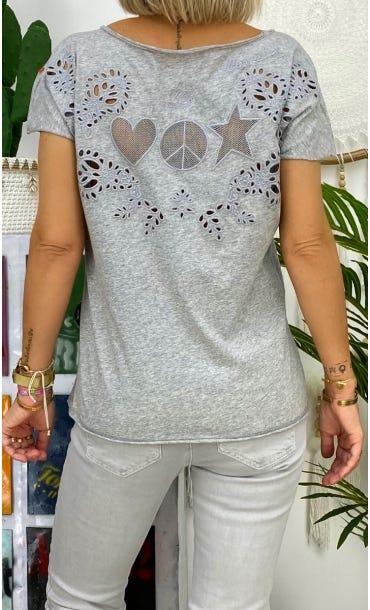 T-Shirt Anton Gris Clair Signs