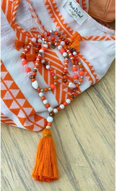 Sautoir Twinkle Orange