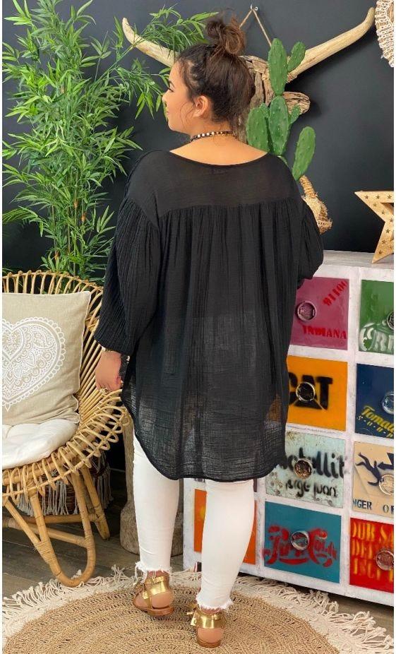 Tunique Malou Voile De Coton Noir