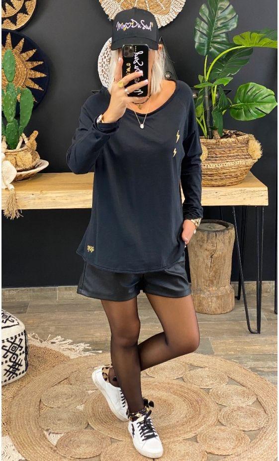 T-Shirt Isma Ultra-Light Noir