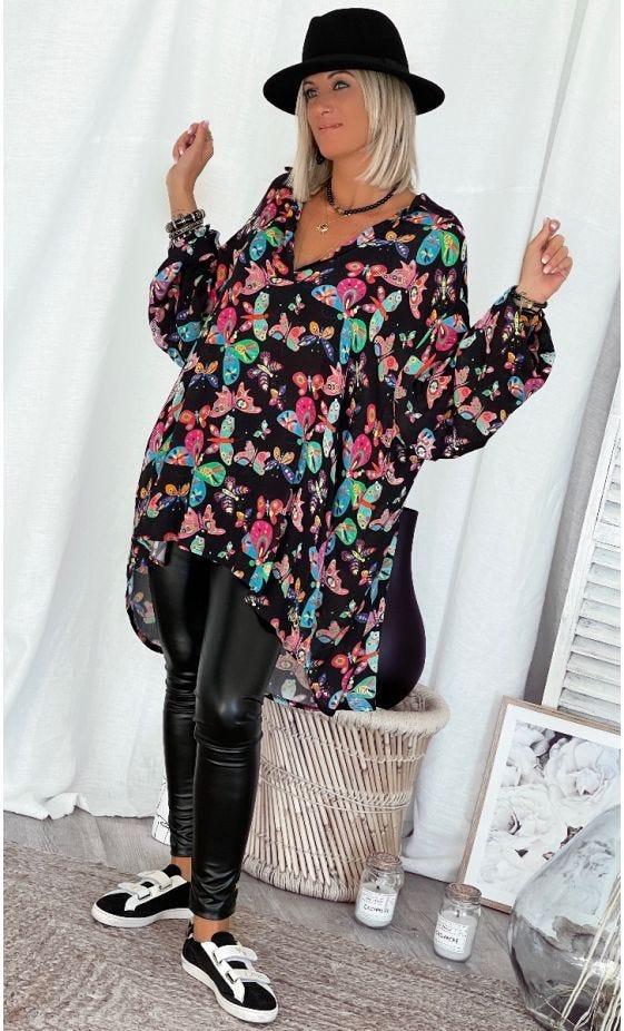 Tunique Emmy Oversize Noir Beautiful Butterfly
