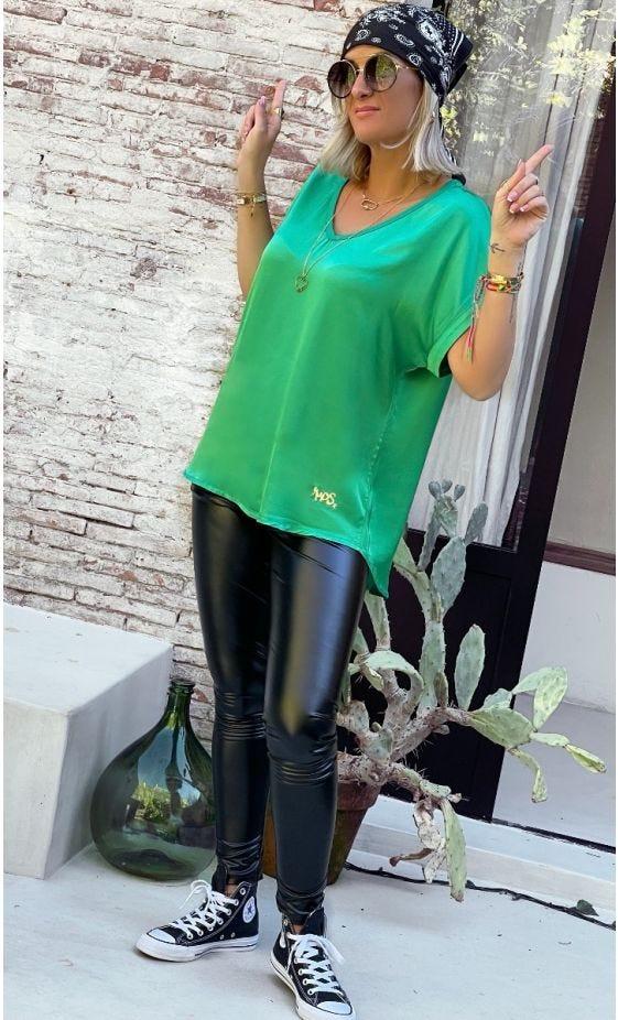 Tunique Jill Satin Vert Brésil