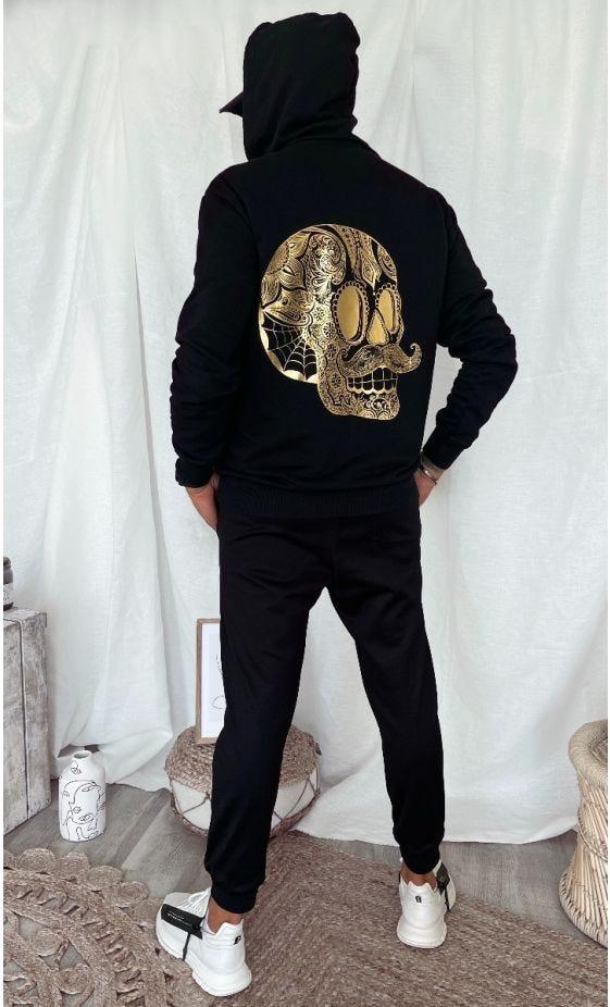 Sweat Lenny Noir Hipster Skull Or