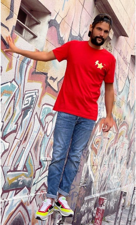 T-Shirt Mayron Rouge MDS Or