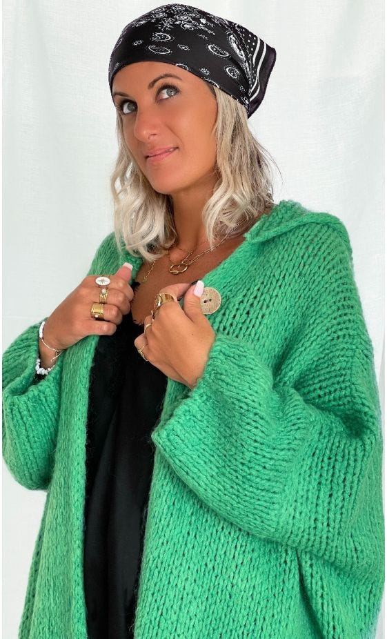 Gilet Maverick Oversize Vert Brésil