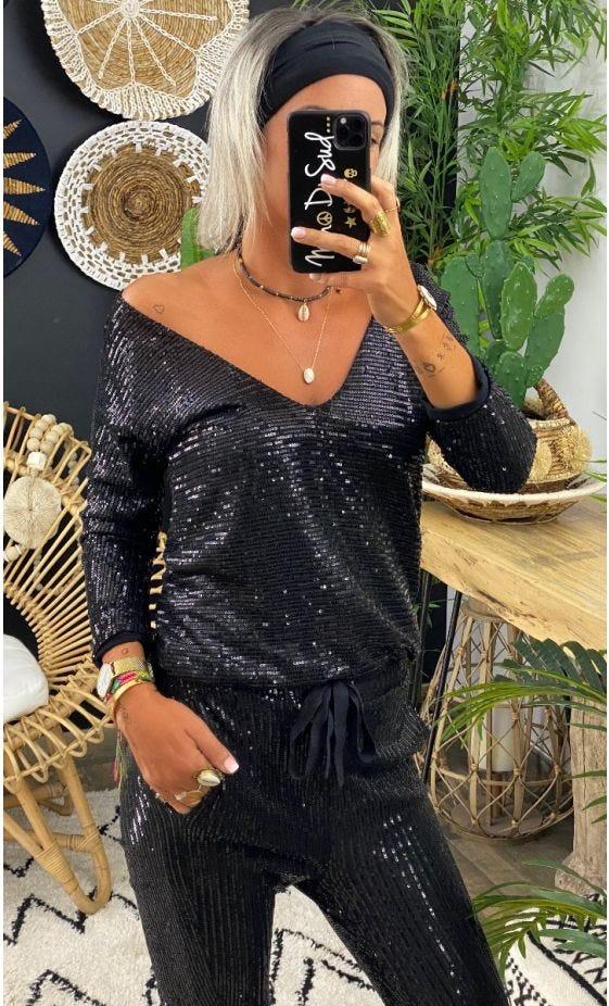 Combi Maria ML Sequins Noir
