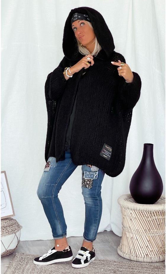 Gilet Maverick Oversize Noir