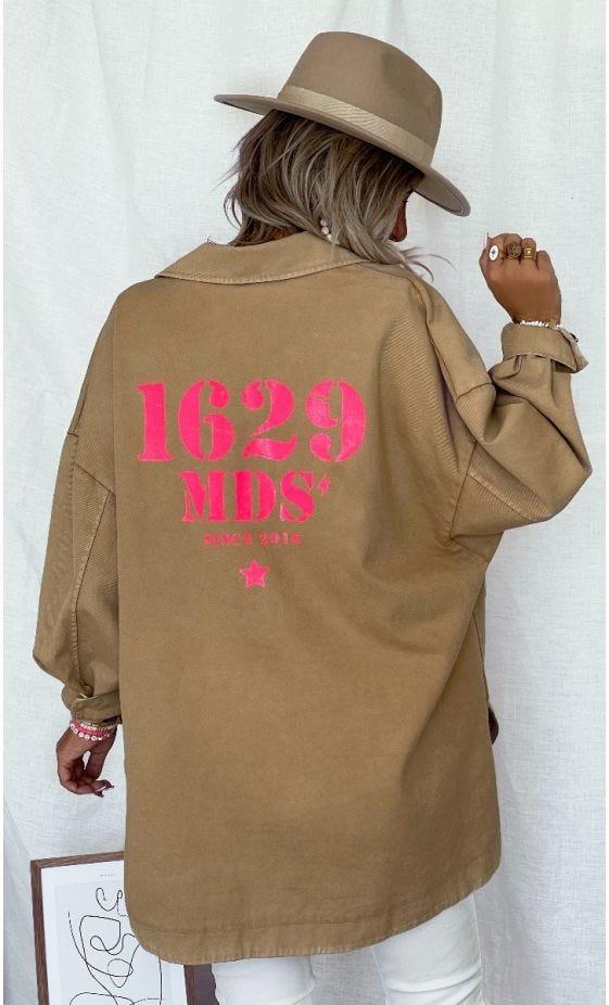 Surchemise Elvie Oversize Camel 1629 MDS Rose Fluo