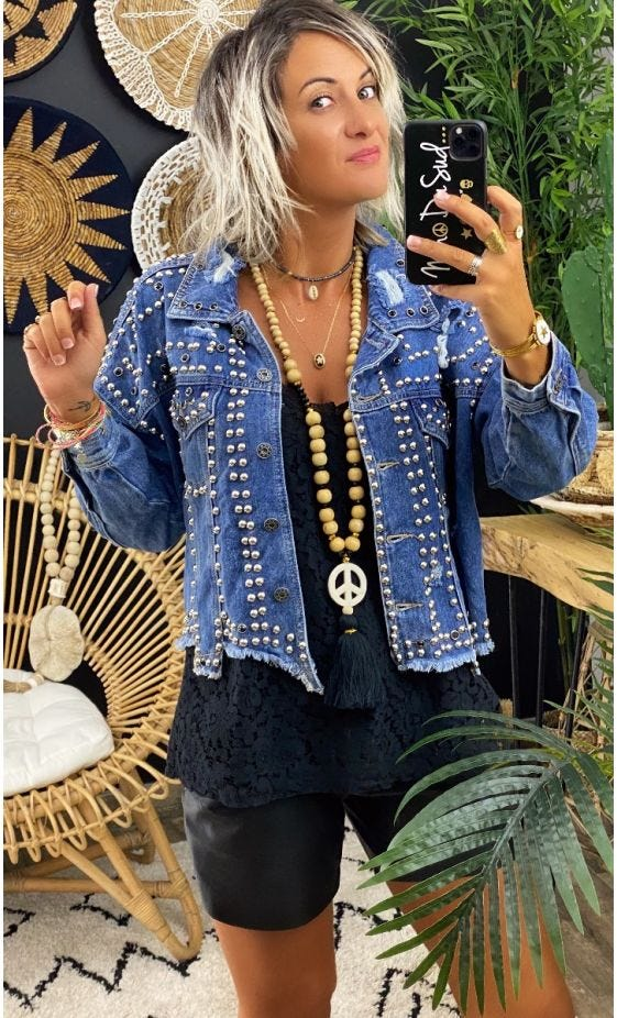 Veste Jean's Roxane Used Denim