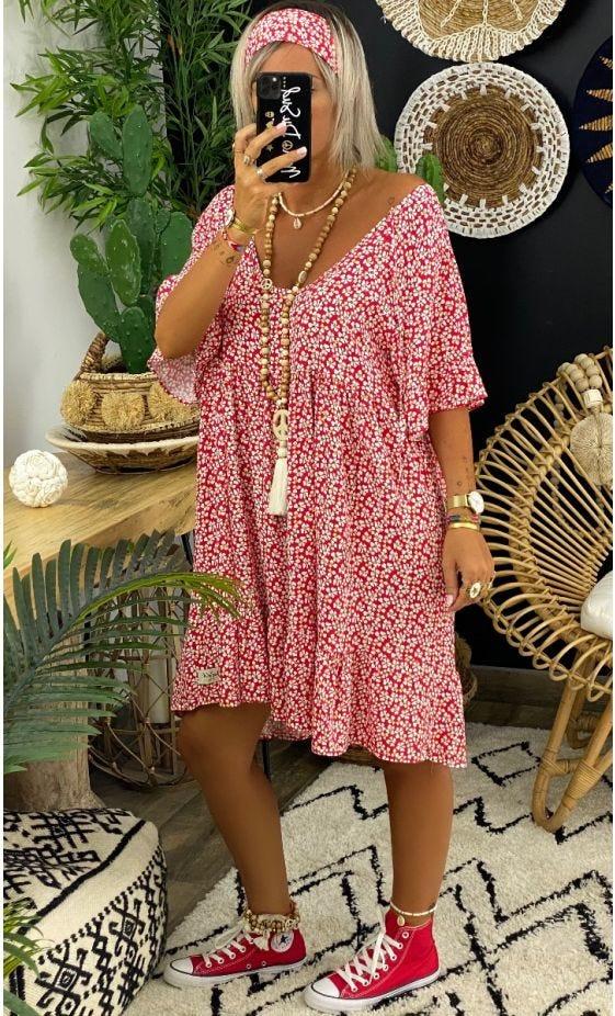Petite Robe Awa Rouge Marigold